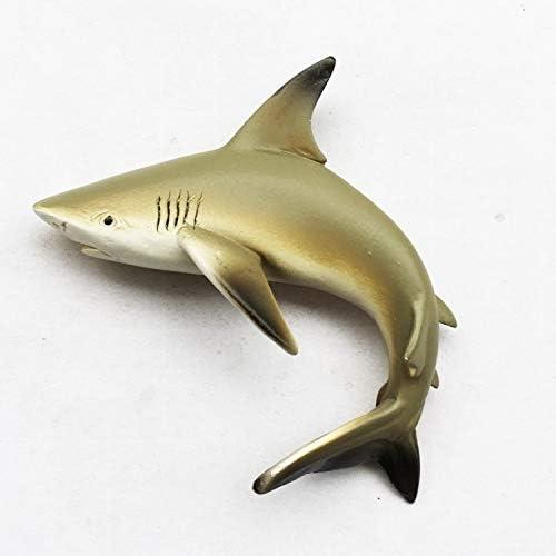 zhenxin Imán de refrigerador  tiburón imán de Nevera  3D niños como Peces Marinos decoración Pegatina magnética 2