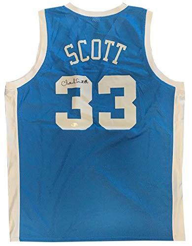 hot sale online d1302 c63be Autographed Charlie Scott Jersey - North Carolina Tar Heels ...