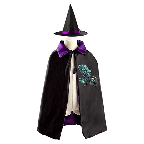 Invincible Comic Costume (Invincible Elf Lizard Kids' Fancy Cosplay Cloak with Witch Hat for Masquerade)