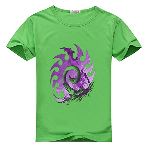 Fancesca II Zerg Silhouette Logo Men's Classic Top T-shirt XXXL Green ()
