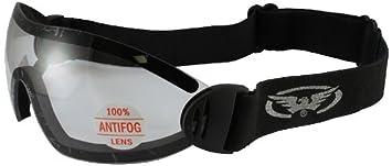 Global Vision Flare Riding Goggles (Black Frame/Smoke Lens) FLARESMAF