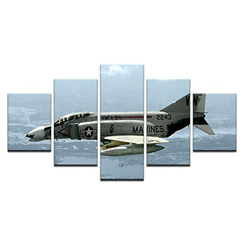 5 Pcs Canvas Prints Vintage Aircraft Art Old Plane Picture Wall Decor Paintings Poster12x16/24/32 inch,Without Frame]()