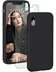 """ProBien Case for iPhone XS Max, Silicone Rubber Shockproof iPhone Max Cover Full Protective Bumper Shell with Free Tempered Screen Protector for iPhone XS Max 6.5"""" (2018)"""
