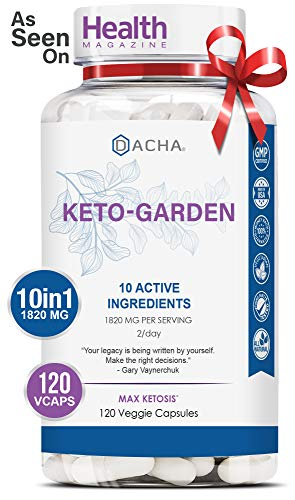 DACHA Ultra Fast Keto Boost - 1820 mg KetoGarden Pure Pills, 6X Advanced Rapid Ketosis, Manage Cravings Super Fast, Utilize Fat for Energy, Perfect Exogenous Ketones, Slim Weight Loss, 120 Capsules (The Best Weight Loss Pills 2019)