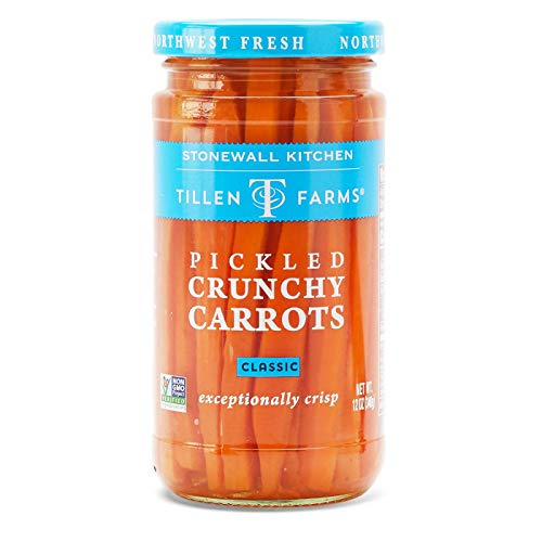 Orange Pickles Pickled - Tillen Farms, Carrots Pickled Crunchy, 12 Ounce