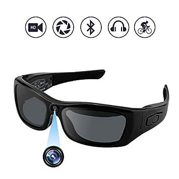 Amazon.com: camakt Bluetooth anteojos de sol cámara ...