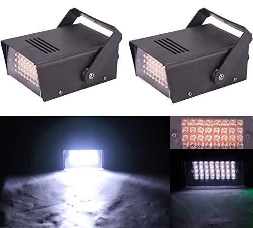 (Pack of 2) Led Strobe,Strobe Light,Super Bright Flash Light,32Pcs White Led Lamp, Use For Disco, Ballroom, KTV, Bar,Club, Party, Wedding