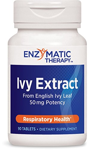 Enzymatic Therapy Ivy Extract from English Ivy Leaf 50 mg Potency, 90 Count