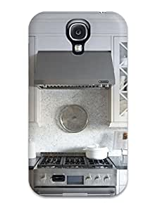 New Tpu Hard Case Premium Galaxy S4 Skin Case Cover(kitchen With Mosaic-style Marble Tiles And Glass Cabinets)