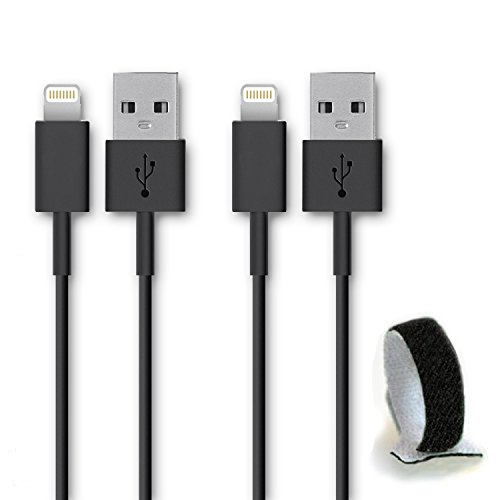 SideTech (TM) 10 Feet 8 Pin Premium Durable iPhone 5/6 Data Sync / Charging Cable for iPhone 6, 6 Plus, 5, 5C, 5S, iPad Air, iPad Mini - Excellent Quality USB to 8 Pin Sync/Charging Data Cable - Quick Charging Certified Quality. Newest iPhone, iPod Compatible with iOS 8 SHIPPED IN SAME BUSINESS DAY(10 FT Bundle of 2 Black Nylon cable)