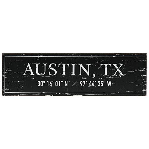 - Barnyard Designs Austin, TX City Sign Rustic Vintage Wood Wall Art Home Decor 17