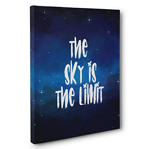 The Sky Is The Limit Motivational Canvas Wall Art by Paper Blast