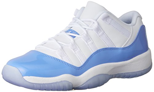 Nike Jordan Kids Jordan 11 Retro Low Bg White/University Blue Basketball Shoe 5 Kids US - Blue And White Retro Jordans