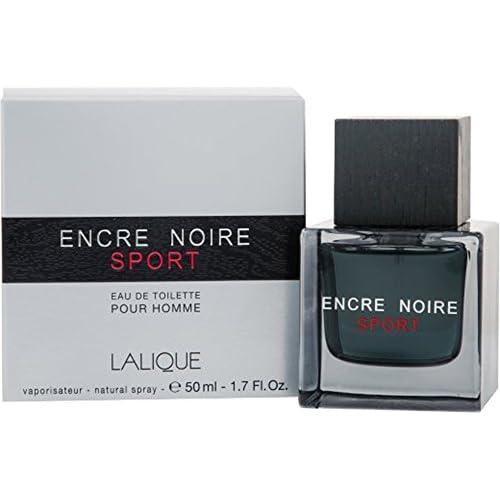 Lalique Encre noire Sport pour homme 50ml Eau de toilette pour homme avec sac cadeau