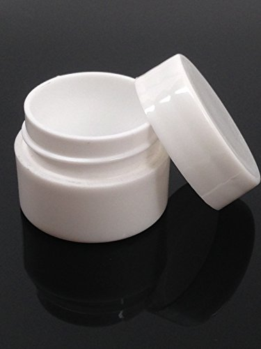 Beauticom Lip Balm Containers - 0.25 Ounce White Plastic Lip Balm Jars w/Lids (24 Pieces in a (0.25 Ounce Jar)
