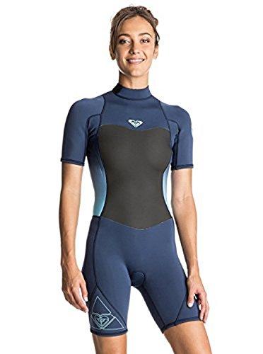 a28dbd05e3 Roxy Womens Roxy Syncro 2 2Mm - Back Zip Springsuit - Women - 6 - Blue Blue  Print 6