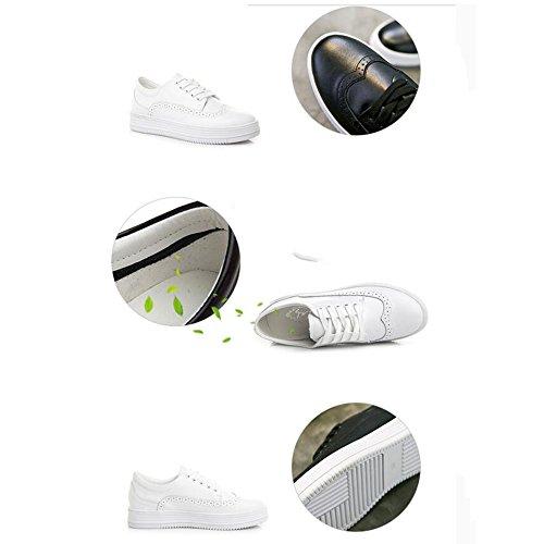 Athletic Eté couleur Automne Les Casual Heel Chaussures Pu Sport Printemps cn37 Fufu Noir uk4 Femmes Outdoor De 4 Pour Hiver White 40 5 Low Ans Baskets Eu37 18 Taille Noir Confort U0BUO8q