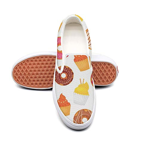 Vosda Women's Donut and Cupcakes Tennis Shoes for Mens Comfortable and Lightweight Running Shoes ()