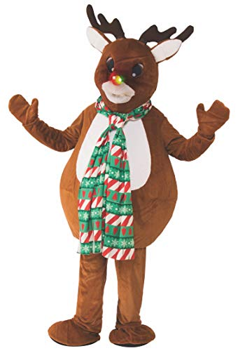 Rubie's Unisex-Adult's Standard Oversized Reindeer Mascot Costume, as as Shown, ()
