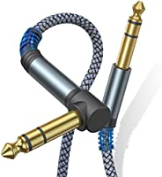 Sweguard 1/4 Inch TRS Instrument Cable, 6.55mm Male Jack Stereo Audio Interconnect Cord,6.55 Balanced Line Com