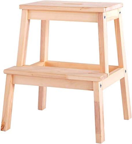 HOMRanger Paso 2 taburetes de Madera para el hogar sólido Escalera del Taburete Niños Escalera Taburete de Paso para Adultos heces (Color: Color de Madera): Amazon.es: Hogar