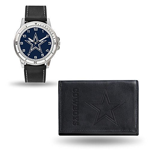 Roy Rose Gifts NFL Dallas Cowboys Black Leather Watch & Wallet -