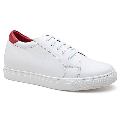 Chamaripa M Uomini Danno Scarpe Di Camoscio Scarpe Da Skate Scarpa Da Tennis - Erh Gallina 7,5 Cm - K70m83-1 White1