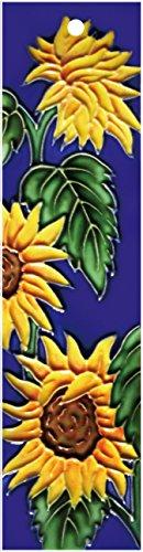 (Sunflower_Left - Decorative Ceramic Art Tile - House Number - 2