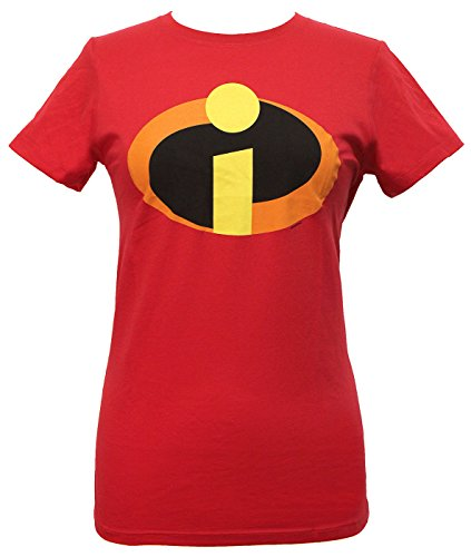 The Incredibles Mrs Incredible - Disney Incredibles Logo Juniors T-shirt (Medium,