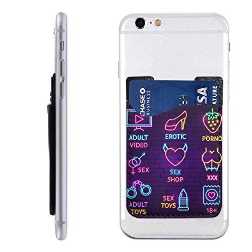 PHONECARD48 Sex Shop Neon Label Set Mobile Phone Card Package PU 2.4