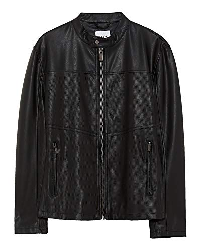 Zara Men Perforated Faux Leather Jacket 8281/464 (Medium) for sale  Delivered anywhere in USA