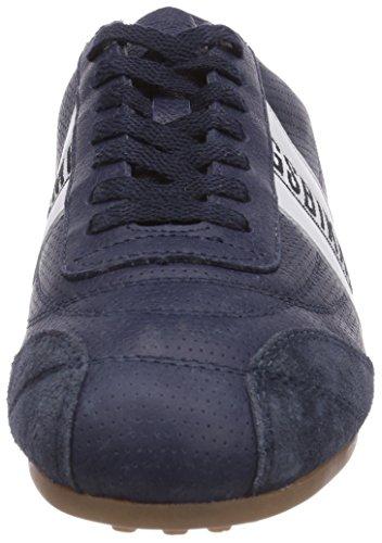 Azul Blau Bikkembergs unisex cuero deportiva Weiss 641083 de Blau zapatilla rYx418qwY
