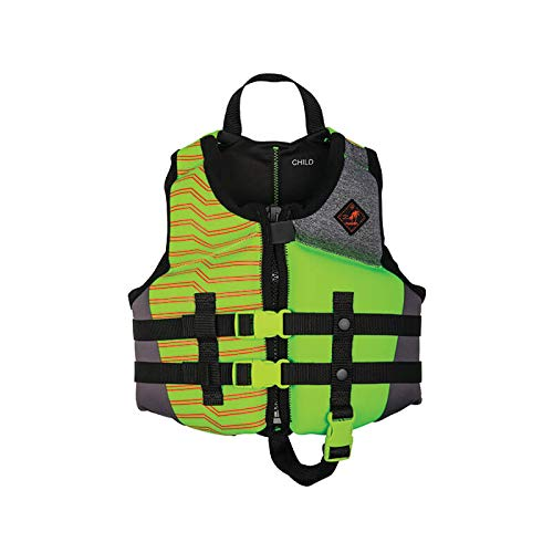 Ronix Vision Boy's - CGA Life Vest - Lime Heather - Child (30-50lbs) (2019)