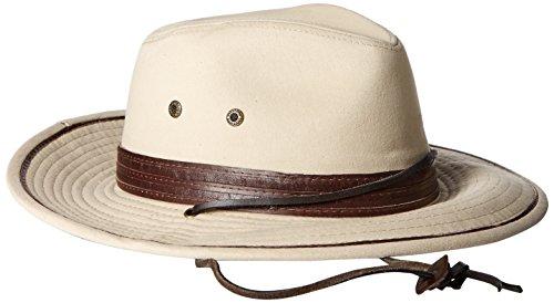 Stetson Men's Safari Twill Hat, Khaki, Medium ()