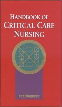 Book Handbook of Critical Care Nursing (Books) [1/5/1996] David Moreau