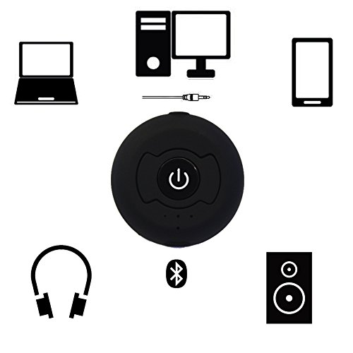 Price comparison product image Urvoix Bluetooth Transmitter,  Wireless Bluetooth 4.0 Audio Stereo Transmitter Pairing TWO Devices Simultaneously Music for TV PC Audio Streaming