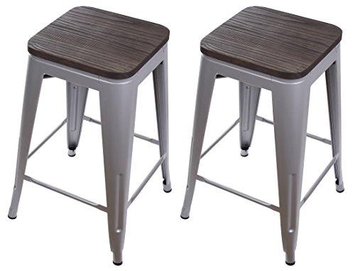 Super Galvanized Metal Bar Height Stool With Back High Back Evergreenethics Interior Chair Design Evergreenethicsorg