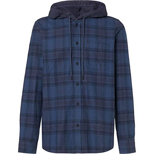 Oakley Men's ICON Hooded Shirt, Foggy Blue, L