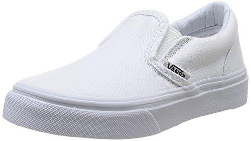 (Vans Kids' Classic Slip-on Core (Toddler) True White)