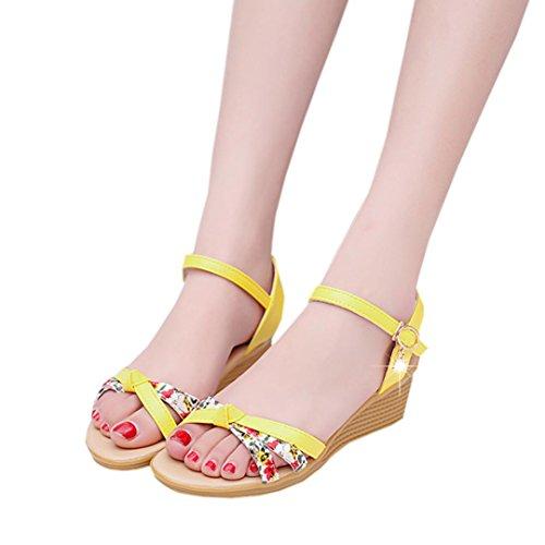 Amiley Sandalen Slippers Flip-flop Voor Vrouwen, Coole Sandalen Schoenen Dames Flip-flops Geel