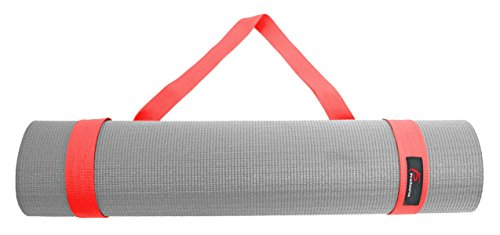 ProSource Yoga Mat Cotton Sling Carry Strap, 60-Inch, Red