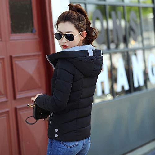 Hiver Jacket Veste Longue Capuche Manteaux Fantaisiez Manteau Noir1 Épais À Automne Outwear Femme Coton Pardessus Manche Décontractée Chaud Z4qSg