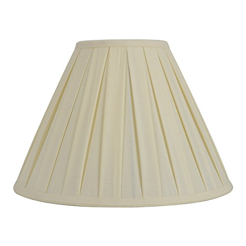 Pleated Lamp Shades - allen + roth 12.5-in x 17-in Cream Fabric Bell Lamp Shade