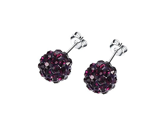 Jewels-Fashion-Surgical-Stainless-Steel-Pave-Crystal-Disco-Ball-Shambala-Studs-Earrings-Girls-Women-Cubic-Zirconia-Hypoallergenic-Earrings