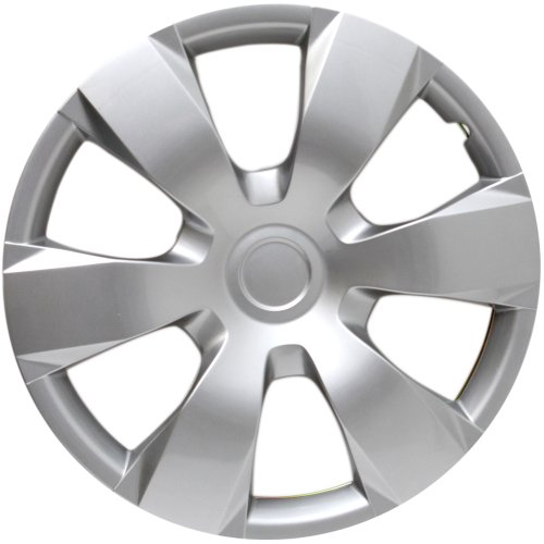 Hubcap for Toyota Camry (Single Piece) Wheel Cover - 16 Inch, 6 Spoke, Snap On, Silver