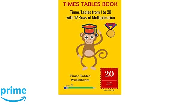 Amazon.com: TIMES TABLES BOOK: Times Tables from 1 to 20 with 12 ...