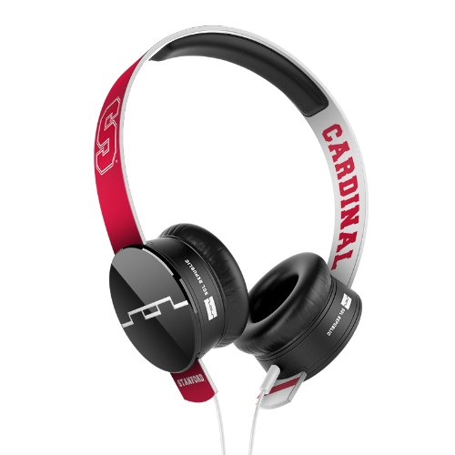 SOL REPUBLIC 1211-STN Collegiate Series Tracks On-Ear Headphones with Three Button Remote and Microphone - Stanford