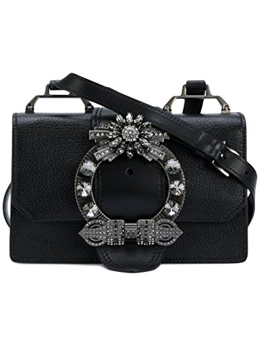 Miu Miu Black Bag (Miu Miu Women's 5Bh6092ejaf0632 Black Leather Shoulder Bag)