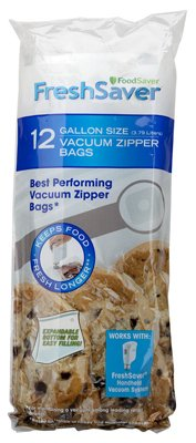 Price comparison product image FoodSaver FSFRBZ0316-P00 Gallon Bag FoodSaver - 12 Count