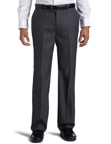 Perry Ellis Men's Portfolio Classic Fit Flat Front Folio Flex Waistband Sharkskin -